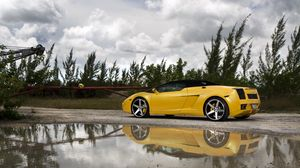 Preview wallpaper lamborghini, gallardo, lp560-4 spyder, yellow