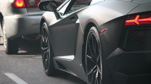Preview wallpaper lamborghini, lights, wheel, supercar