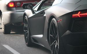 ... Preview wallpaper lamborghini, lights, wheel, supercar