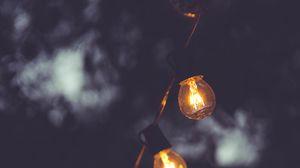Preview wallpaper lamp, electricity, dark, lighting