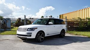 Preview wallpaper land rover, range rover, sport, white, jeep
