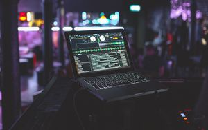 Preview wallpaper laptop, dj, equipment, electronics, music