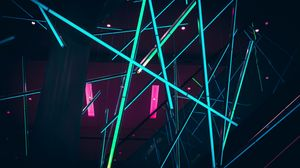 Preview wallpaper lasers, neon, installation, colorful
