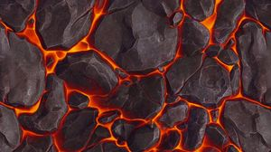 Preview wallpaper lava, texture, stones, volcanic