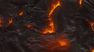 Preview wallpaper lava, texture, surface, cranny, fire, hot
