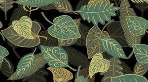 Preview wallpaper leaves, patterns, texture, illustration