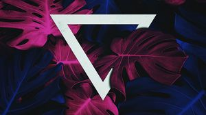 Preview wallpaper leaves, triangle, geometric, inverted, acute angle