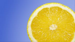 Preview wallpaper lemon, citrus, slice, ripe