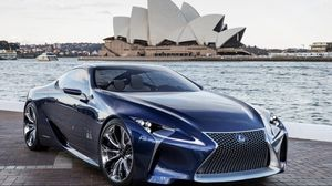Preview wallpaper lexus, lf-lc, sydney, opera house