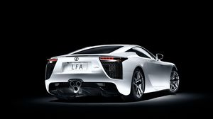 Preview wallpaper lexus, lfa, white, side view