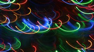 Preview wallpaper lights, colorful, abstraction, blur, long exposure