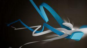 Preview wallpaper line, black, gray, blue