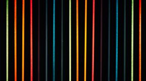 Preview wallpaper lines, multicolored, neon, light