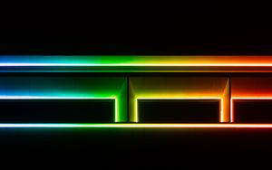 Preview wallpaper lines, neon, glow, multicolored, shapes