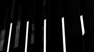 Preview wallpaper lines, stripes, building, black, black and white