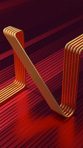 Preview wallpaper lines, tubes, curved, 3d, shape