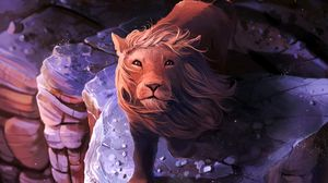 Preview wallpaper lion, art, mane, king of beasts