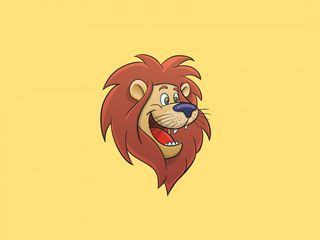 320x240 Wallpaper lion, cartoon, art