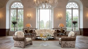 Preview wallpaper living room, hall, chandelier, furniture, vintage, interior, design