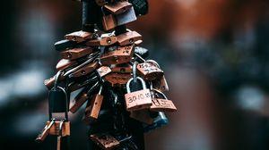 Preview wallpaper locks, love, romance, drops