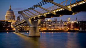Preview wallpaper london, bridge, building, night