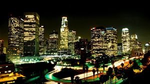 Wonderful Wallpaper Night Los Angeles - los_angeles_city_night_street_skyscrapers_28498_300x168  Best Photo Reference-26199.jpg