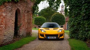 Preview wallpaper lotus, evora, yellow, front view