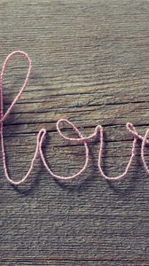 Preview wallpaper love, heart, strings, romance