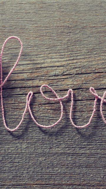 360x640 Wallpaper love, heart, strings, romance
