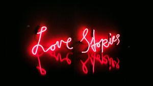 Preview wallpaper love, neon, text, glow, red
