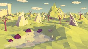 Preview wallpaper low poly, polygon, landscape, abstraction