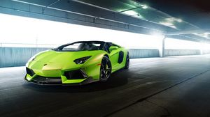 Preview wallpaper lp-740, aventador, green, vorsteiner, aventador-vs, lamborghini