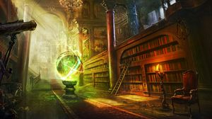 Preview wallpaper magic, ball, library, columns, castle