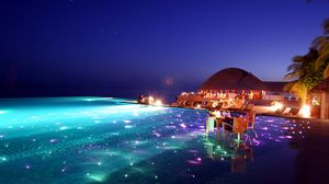 Preview wallpaper maldives, tropical, resort, evening