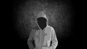 Preview wallpaper man, hoody, hood, graphics