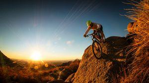 Preview wallpaper man, mountain bike, cyclist