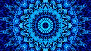 Preview wallpaper mandala, pattern, circles, blue, bright