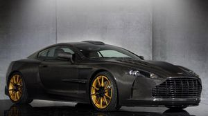 Preview wallpaper mansory, cyrus, aston martin db9, black, side view
