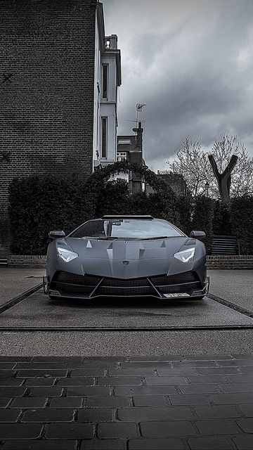 360x640 Wallpaper mansory, lamborghini, aventador, black, gate, front view