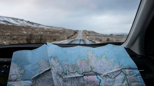 Preview wallpaper map, road, travel, trip