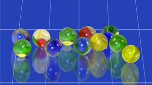 Preview wallpaper marbles, blue, desing, cercle, miror