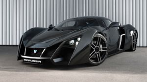 Preview wallpaper marussia, sports car, black