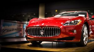 Preview wallpaper maserati, car, red