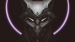 Preview wallpaper mask, cyborg, robot, circle, dark