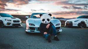 Preview wallpaper mask, panda, mazda, cars, racing