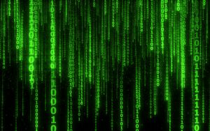 Preview wallpaper binary code, code, numbers, green, glow
