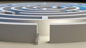 Preview wallpaper maze, 3d, figure
