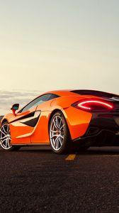 Preview wallpaper mclaren, 570s, rear view, orange
