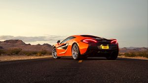 Preview wallpaper mclaren, 570s, rear view, orange
