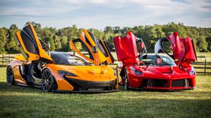 Preview wallpaper mclaren, p1, ferrari, laferrari
